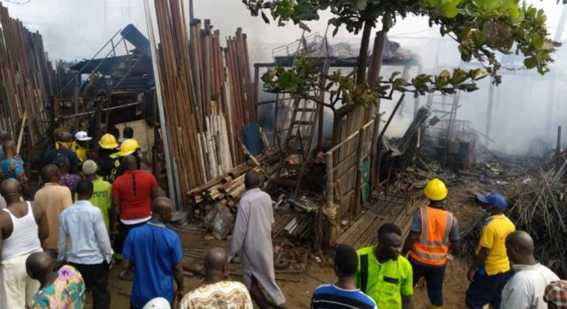 Over 30 shops burnt as fire guts Owode-Onirin market in Ikorodu