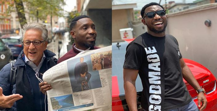 Time Dakolo excited as his Christmas Album is  featured in UK news paper (Video)
