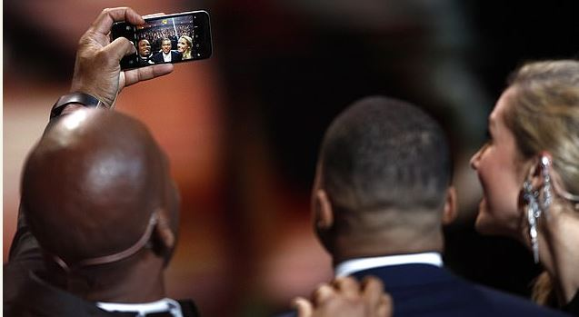 See the phone Ballon D'or host, Drogba brought to the event that got fans talking (pictures)