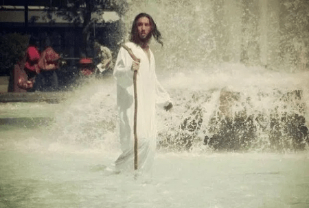 Police arrest 'Jesus' after he walked on water