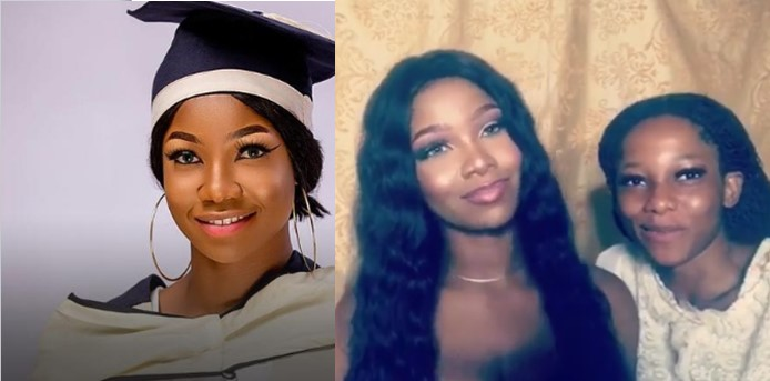 Tacha introduces her pretty look-alike younger sister, Beni (Video)