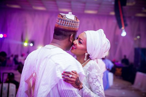 Buhari's daughter, Zahra praises husband at Abuja event (SEE PHOTO)
