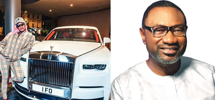 DJ Cuppy picks up N200m customized 2020 Rolls Royce Phantom for her Dad as Christmas gift