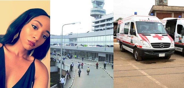 """""""Nigeria is the worst place in the world"""" – Lady says after witnessing a man collapse at the airport with no ambulance or doctor in sight"""