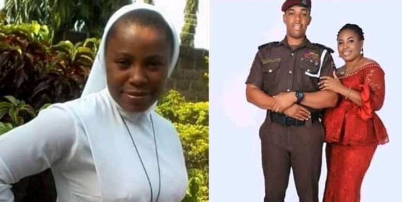 Trending pre-wedding photos of a Catholic Reverend Sister who allegedly quit her religious profession to marry a police officer