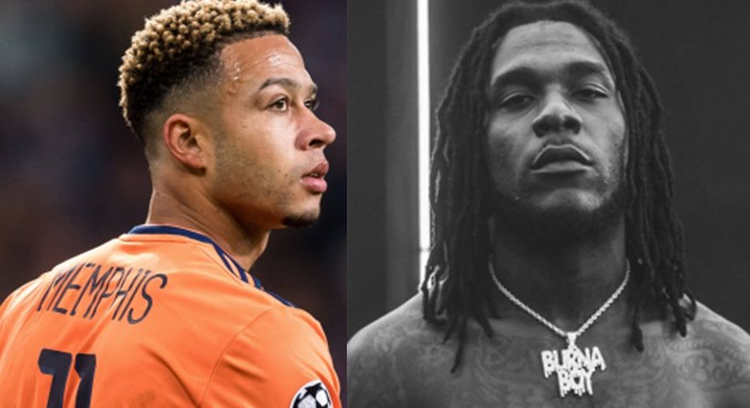 Memphis Depay grooves and vibes to Burna Boy's 'Wetin Man Go Do' (Video)