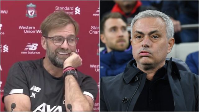 VIDEO: Liverpool coach, Klopp ask journalists to Google Jose Mourinho's past at press conference