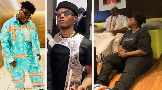 I heard you are dating Wizkid? – Ooni Of Ife asks Teni (Video)