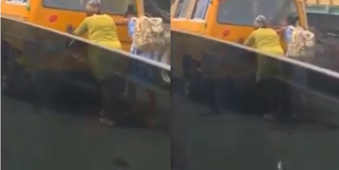 Video: Female passengers push a bus in Lagos while male passengers sit comfortably inside