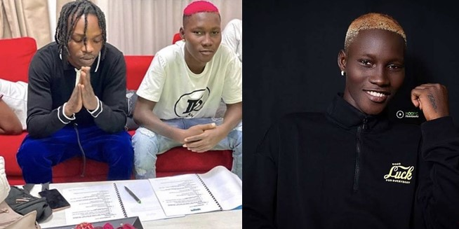 Naira Marley signs young ace, Zinoleesky to Marlian Music