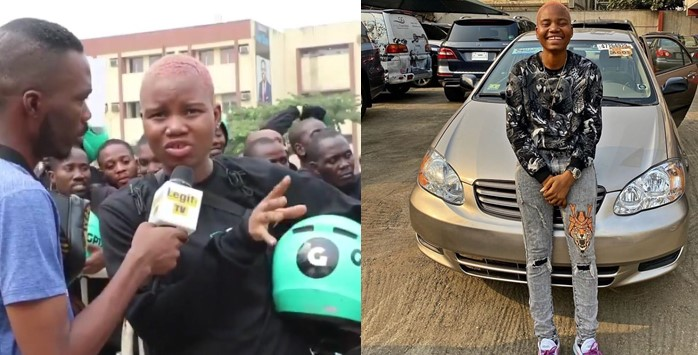 Female Bike Rider who cried out over the Okada ban, receives car gift to start Uber business (Video)