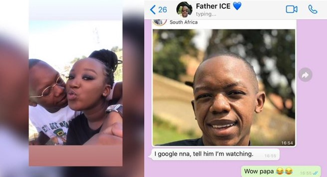 Lady uses her boyfriend as WhatsApp DP, her dad sees it and asks for his full name so that he can google him (Screenshots)