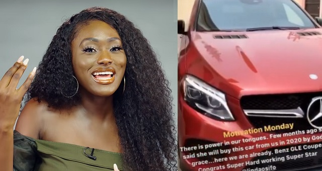 Nollywood actress, Linda Osifo spotted with new Mercedes Benz GLE Coupe