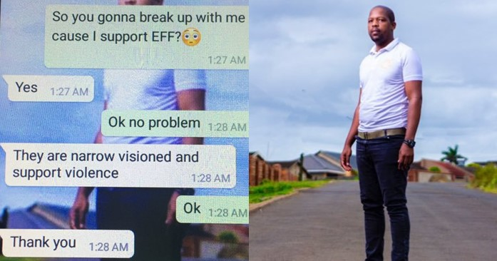 I just got dumped on Valentine's day for supporting a political party – Man cries out (Screenshots)