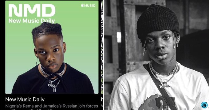 Rema goes global as he becomes the face of Apple Music's 'New Music Daily'