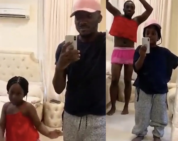 Bovi shares hilarious Flip Switch Challenge he did with daughter