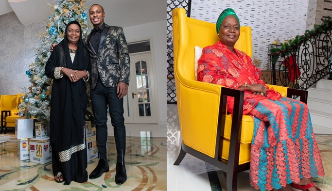 Man United star, Odion Ighalo celebrates his mother on her birthday (Photos)