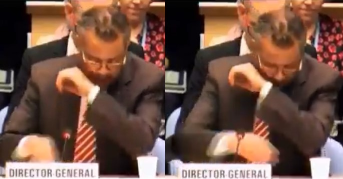 """""""Don't worry, it's not corona"""" – WHO Director-General tells people not to fear after he coughed during coronavirus press conference (VIDEO)"""