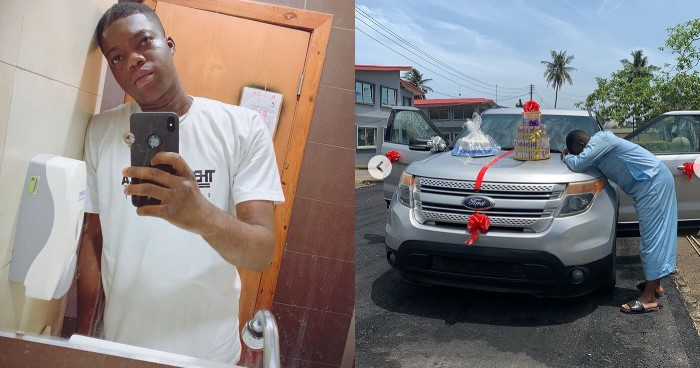 IG comedian, Cute Abiola receives car gift from stranger as he celebrates his birthday (Video)