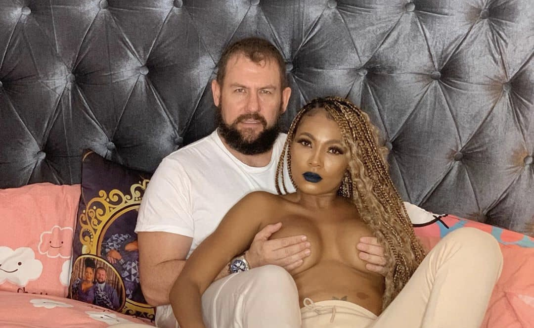 Nigerian TV reality star, Linda Hurter shares steaming bedroom photos with her husband