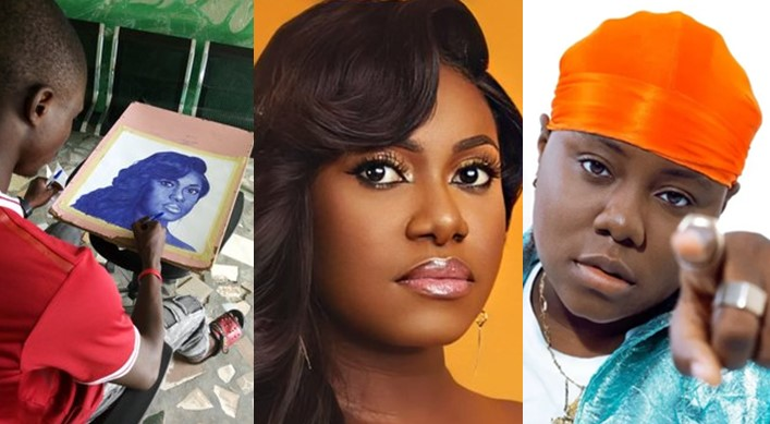 Sisterly Love: Teni offers to buy a beautiful pen portrait of Niniola and gift it to her (Photos)