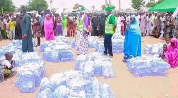 First Lady of Bauchi State empowers young women, distributes bags of sachet water as business start-ups