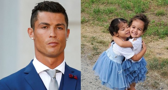 """I fall in love every time I see these two"" – Cristiano Ronaldo gushes over his adorable daughters (Photo)"