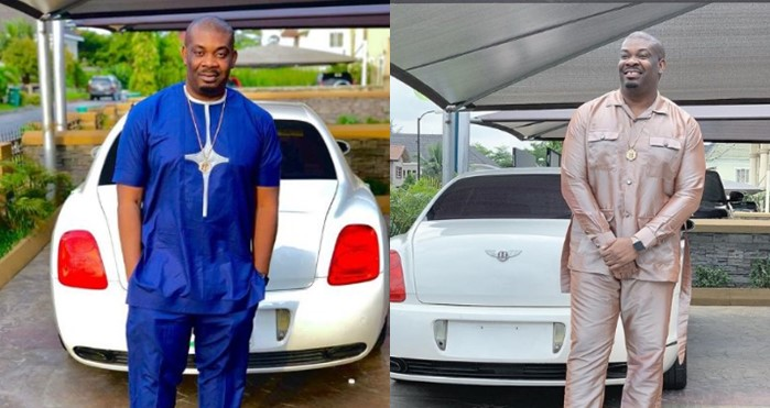 Don Jazzy reveals what will happen if he gifts his Bentley to a female fan who begged for one of his cars