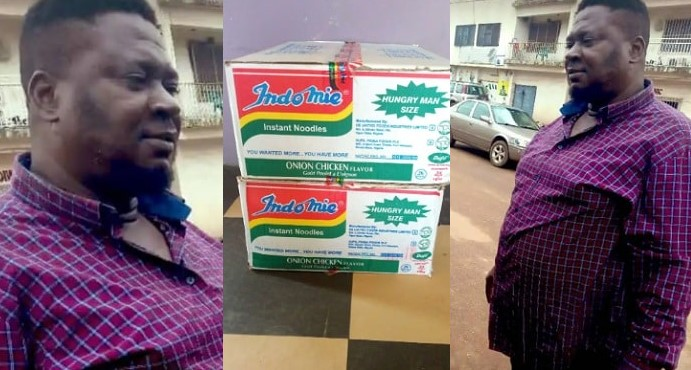 Man gets free supply of noodles for 6 months after returning N1.8m he found in a carton
