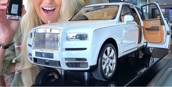 Checkout the world's most expensive toy car, Rolls Royce Cullinan worth N15.5m (Photos/Video)