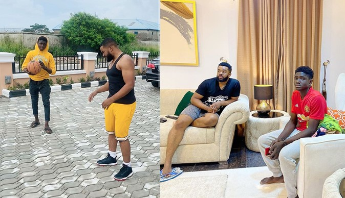 Williams Uchemba's adopted son, Demola finally moves into his home as they share father-son moment (Video)
