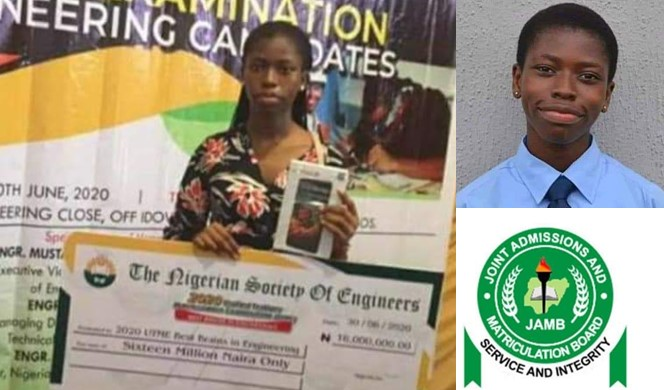 Student with the highest JAMB score, Agnes Maduafokwa, 15 others receive N16million from NSE