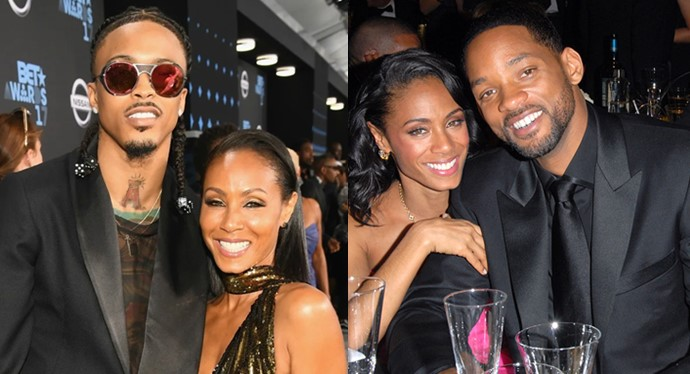 Jada Pinkett-Smith reacts to August Alsina's claim that they were in a relationship with permission from Will Smith