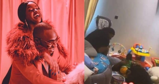 Davido and Chioma spotted chilling with their son amid relationship rumours