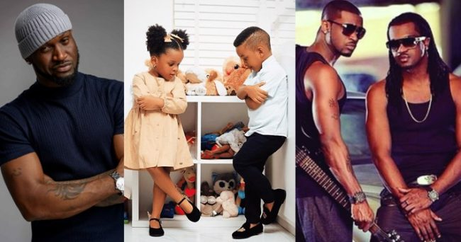 Peter Okoye sets aside family grudges to celebrate Paul's twins on their birthday