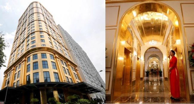 World's first gold-plated hotel which serves tea in a gold cup opens in Vietnam (Photos/Video)