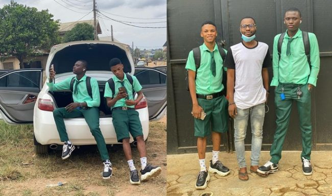 #BenefitBoys: SS3 students resume with Benz and iPhones after making money during lockdown (Video)