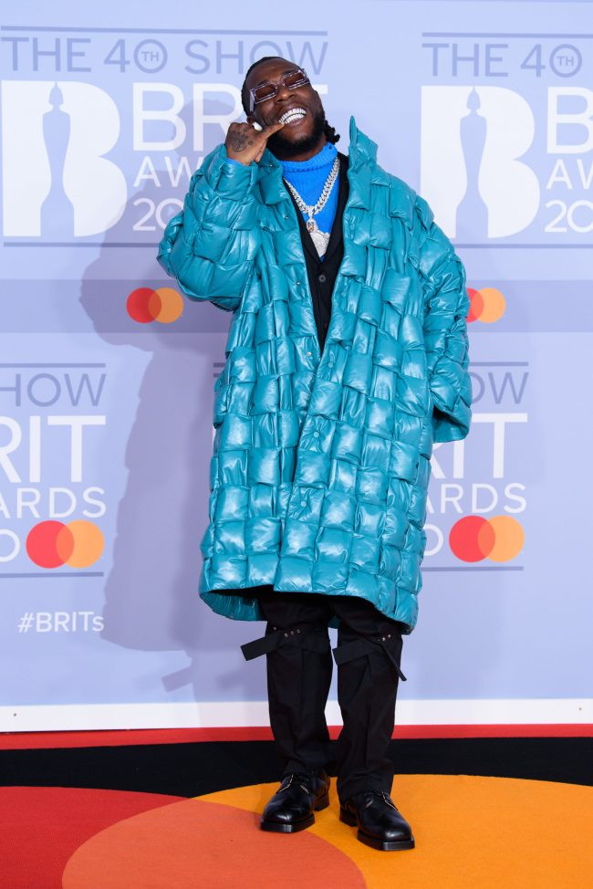 Burna Boy Twice as Tall nominated f0r 2021 BRIT Awards