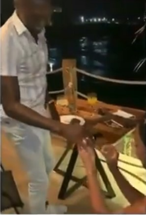 Video 0f a Lady who takes her man on a date and proposes to him