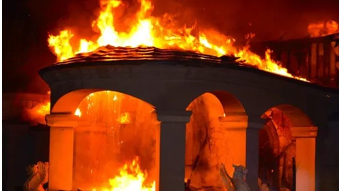 Angry youths burn down Commissioner's house for allegedly colluding with bandits