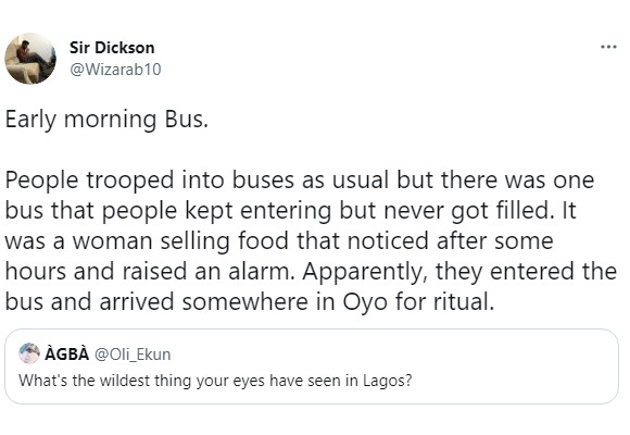 Man shares shocking story of how passengers were boarding a bus in Lagos and mysteriously kept disappearing