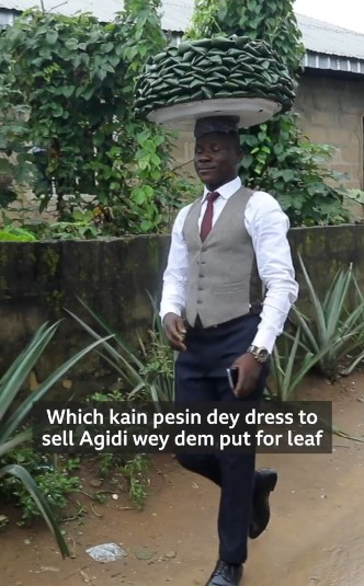 I dress well to attract customers, says Nigerian man who rocks corporate to hawk food (Video)