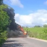 Surubim: homem morre carbonizado em colisão de caminhões na Rodovia PE-90