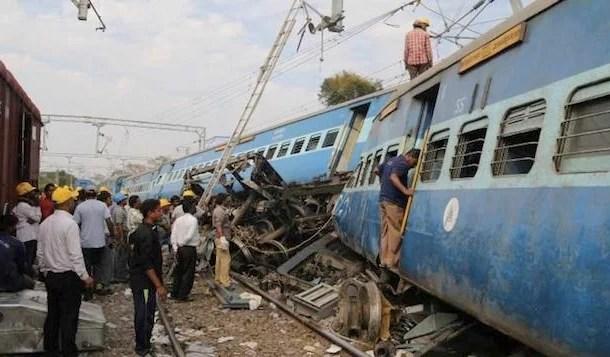 Descarrilamento de trem deixa mortos e feridos na Índia