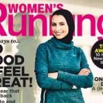 Revista de fitness com mulher de hijab na capa