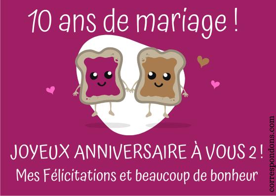 textes 10 ans de mariage