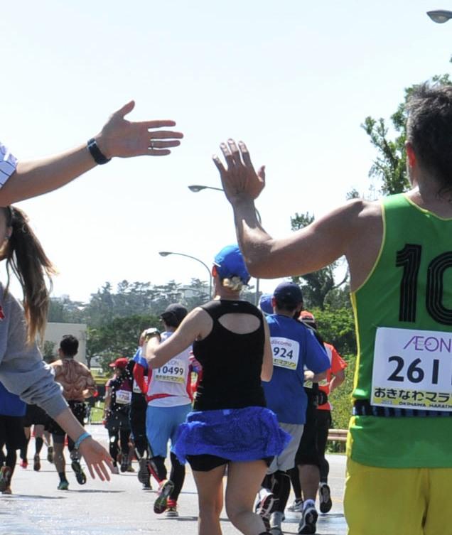 El saludo en el running