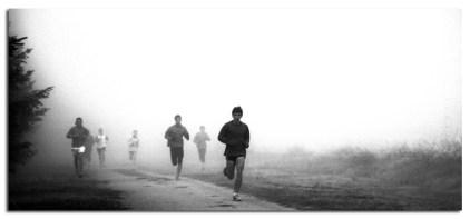 correr con niebla