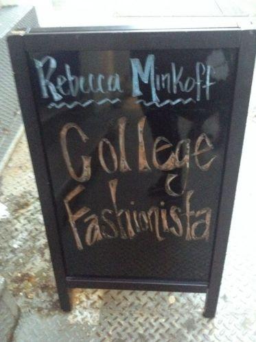 College Fashionista + Rebecca Minkoff Shopping Event