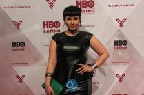 "Rebecca Torres attends the HBO Latino red carpet premiere of the ""Camino Al Concierto and Legacy: De Lider a Leyenda"" at Center 548 on April 7, 2015 in New York City."